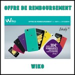 Offre de Remboursement (ODR) Wiko : Jusqu'à 30 € sur Téléphone - anti-crise.fr