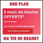 Bon Plan Ma Vie de Brandt : 3 mois de Lessive Offerts - anti-crise.fr