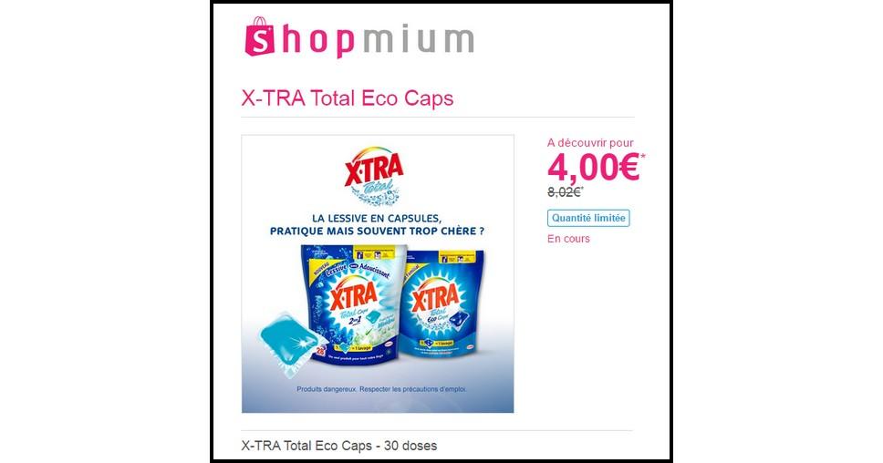 Offre de Remboursement (ODR) Shopmium : X-TRA Total Eco Caps - 30 doses à 4 € - anti-crise.fr