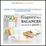 Instants Gagnants Confidentielles : Balance de cuisine aux couleurs de 750g - anti-crise.fr