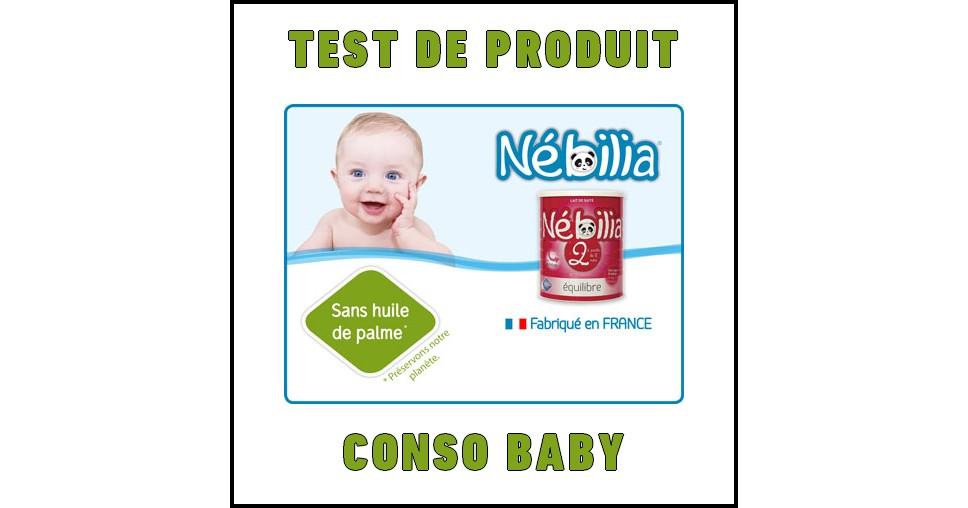 Test de Produit Conso Baby : Lait Nébilia® 2ème âge - anti-crise.fr