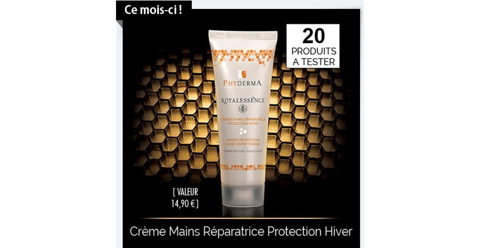 Test de Produit Phyderma : Crème Mains Réparatrice Protection Hiver Royalessence - anti-crise.fr
