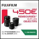 Offre de Remboursement (ODR) Fujifilm : Jusqu'à 450 € sur les Objectifs - anti-crise.fr
