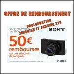 Offre de Remboursement (ODR) Sony : 50 € sur Appareil Photo Compact - anti-crise.fr