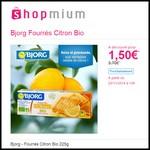 Offre de Remboursement (ODR) Shopmium : Bjorg - Fourrés Citron Bio 225g à 1,50 € - anti-crise.fr