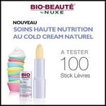 Test de Produit Beauté Test : Stick Lèvres Haute Nutrition 8H au cold cream naturel de Bio Beauté by Nuxe - anti-crise.fr