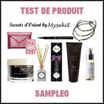 Test de Produit Sampleo : Kits Secrets d'Orient Mysekit - anti-crise.fr