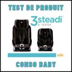 Test de Produit Conso Baby : Siège auto Steadi Joie - anti-crise.fr
