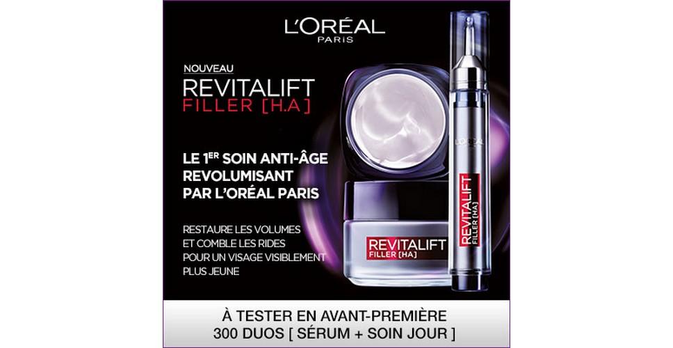 Test de Produit Beauté Test : Revitalift Filler [H.A] de L'Oréal Paris - anti-crise.fr