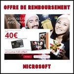 Offre de Remboursement (ODR) Microsoft : 40€ sous forme d'une carte prépayée sur Smartphone Lumia - anti-crise.fr