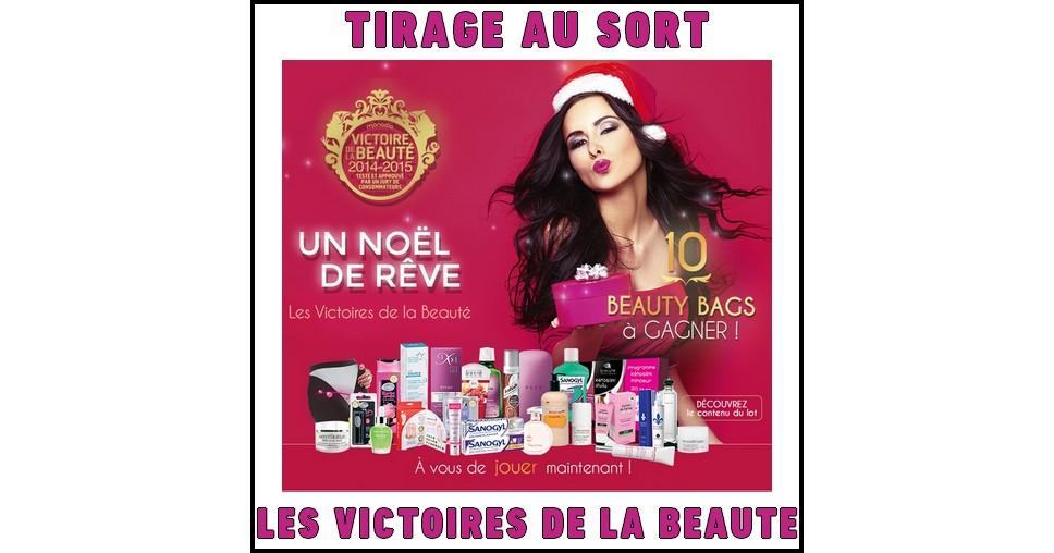 Tirage Au Sort Les Victoires de La Beauté : Beauty Bag composé de produits de beauté - anti-crise.fr
