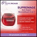 Test de produit Beauté Test : Soin Reconstituant 3 en 1 - Supremage de Dr Pierre Ricaud - anti-crise.fr