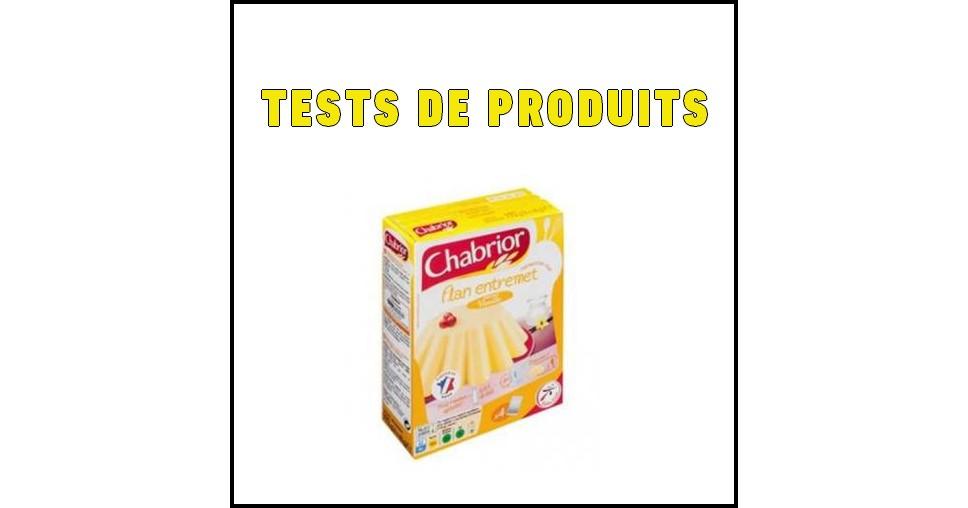Tests de Produits : Flan entremet saveur vanille de Chabrior - anti-crise.fr