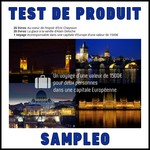 Test de Produit Sampleo : Un Weekend pour deux, dans une capitale d'Europe - anti-crise.fr