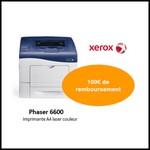 Offre de Remboursement (ODR) Xerox : 100€ sur une Imprimante Phaser 6600 - anti-crise.fr