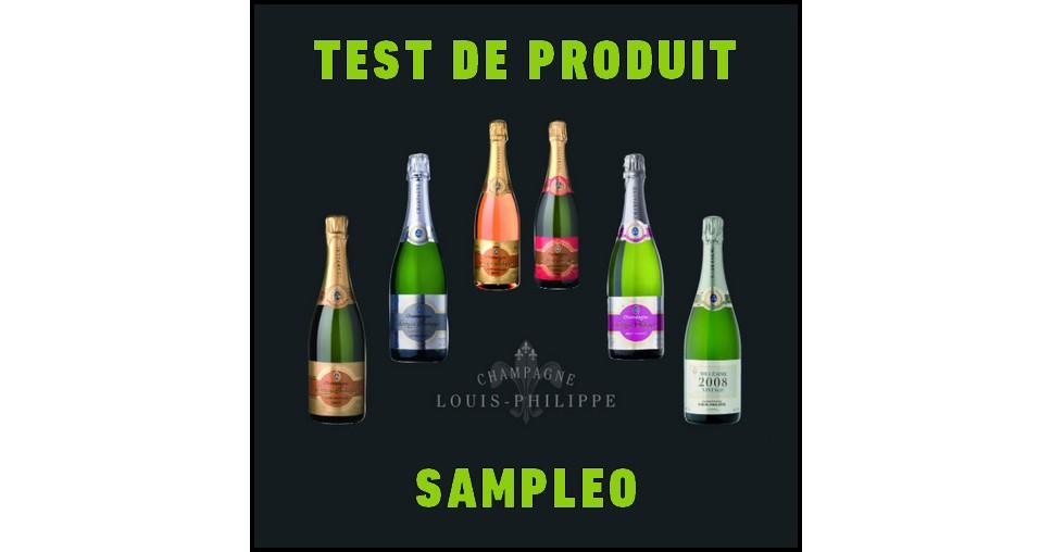 Test de Produit Sampleo : Bouteilles de Champagne Louis-Philippe - anti-crise.fr