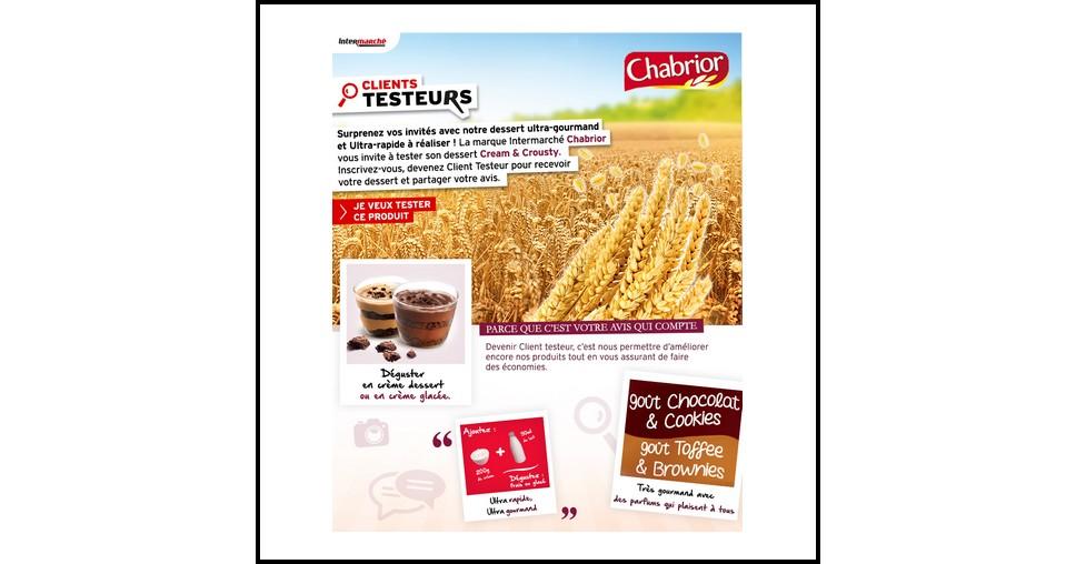 Test de Produit Intermarché sur Facebook : Biscuits Cream & Crousty Chabrior - anti-crise.fr