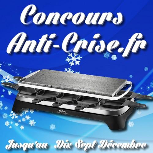 Tirage au Sort de Noël Anti-Crise.fr : Une Pierrade-Raclette pour 10 personnes Téfal à Gagner - anti-crise.fr