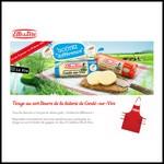 Tirage au Sort Beurre de la laiterie de Condé-sur-Vire : Tablier de cuisine Elle & Vire à Gagner - anti-crise.fr