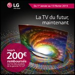 Offre de Remboursement (ODR) LG : Jusqu'à 200 € sur Téléviseur - anti-crise.fr