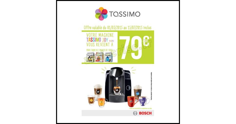 Offre de Remboursement (ODR) Bosch : Votre Tassimo Joy à 79 € - anti-crise.fr