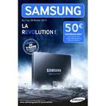 Offre de Remboursement (ODR) Samsung : 50 € sur Disque SSD - anti-crise.fr