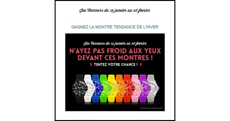 Instants Gagnants Confidentielles : Montre Ice Watch à Gagner - anti-crise.fr