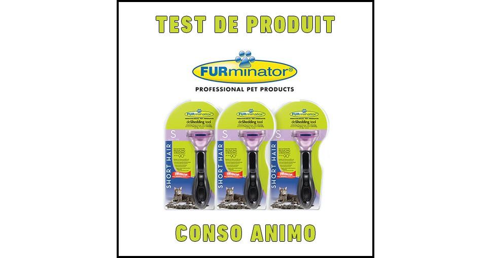 Test de Produit Conso Animo : FURminator Chat Poils Courts - anti-crise.fr