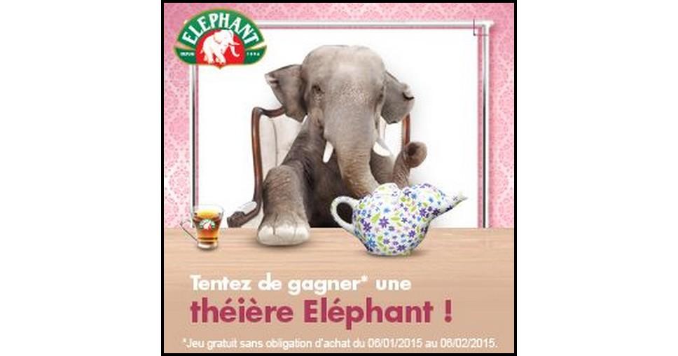Tirage au Sort Ma Vie En Couleurs : Théière à fleurs Elephant à Gagner - anti-crise.fr