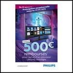 Offre de Remboursement (ODR) Philips : Jusqu'à 500 € sur Téléviseur Ultra HD Ambilight - anti-crise.fr