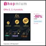 Offre de Remboursement (ODR) Shopmium : Jusqu'à 50 % sur Capsules L'OR EspressO - anti-crise.fr