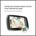 Offre de Remboursement (ODR) 50 € sur TomTom Go 5000 - anti-crise.fr