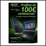 Offre de Remboursement (ODR) Acer : 100 € sur Aspire V-Nitro Black Edition - anti-crise.fr