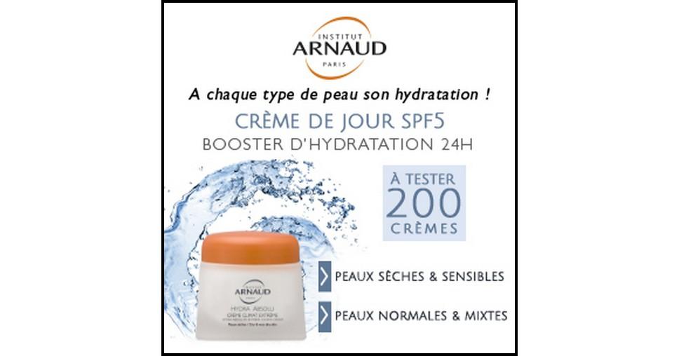 Test de Produit Beauté Addict : Crème de Jour SPF5 Hydra Absolu Institut Arnaud - anti-crise.fr
