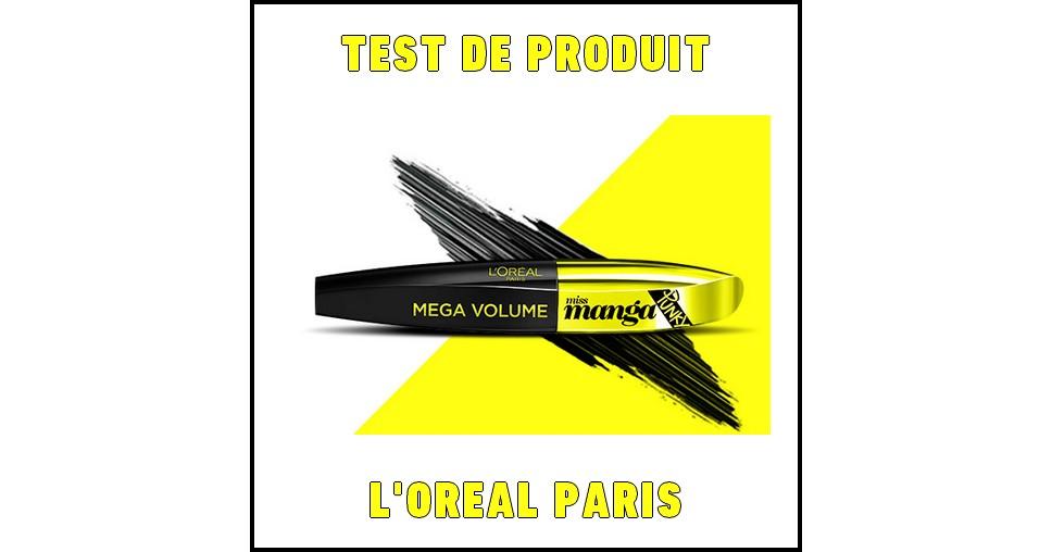 Test de Produit L'Oréal Paris : Mascara Mega Volume Miss Manga Punky - anti-crise.fr