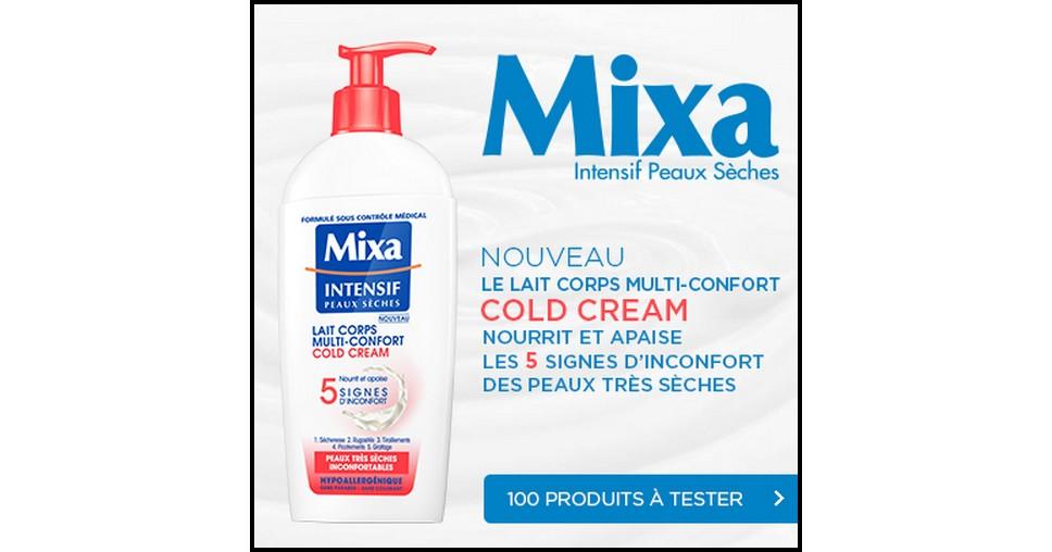 Test de Produit Beauté Test : Lait Corps Multi-Confort - Cold Cream Mixa - anti-crise.fr