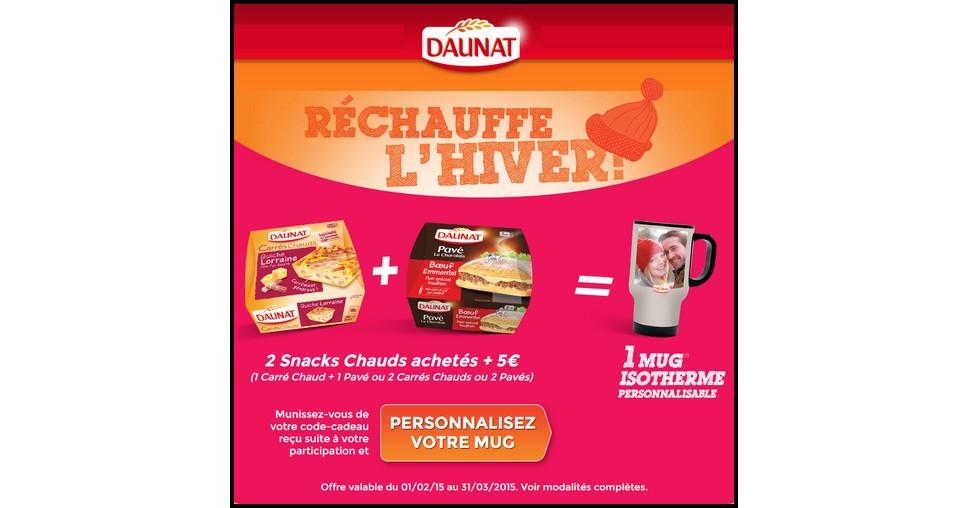Bon Plan Daunat : Mug isotherme Offert - anti-crise.fr