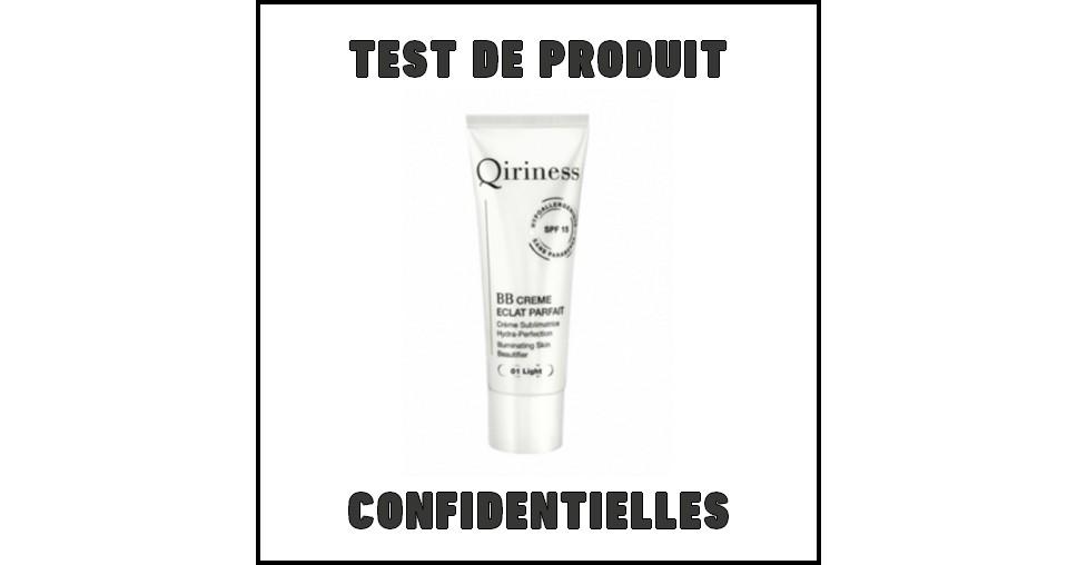 Test de Produit Confidentielles : BB Crème Eclat Parfait Qiriness - anti-crise.fr