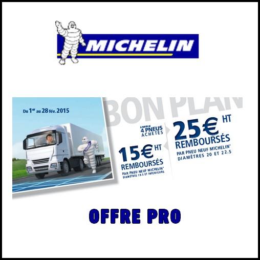 Offre de Remboursement (ODR) Michelin Pro : Jusqu'à 25 € sur Pneu Neuf - anti-crise.fr