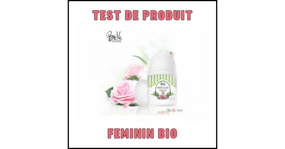 Test de Produit Féminin Bio : Crème de jour bio « Rose Aloé » Belle Oemine - anti-crise.fr