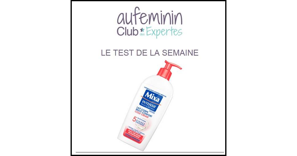 Test de Produit Au Féminin : Lait Corps Multi-Confort Cold Cream de Mixa Intensif Peaux Sèches - anti-crise.fr