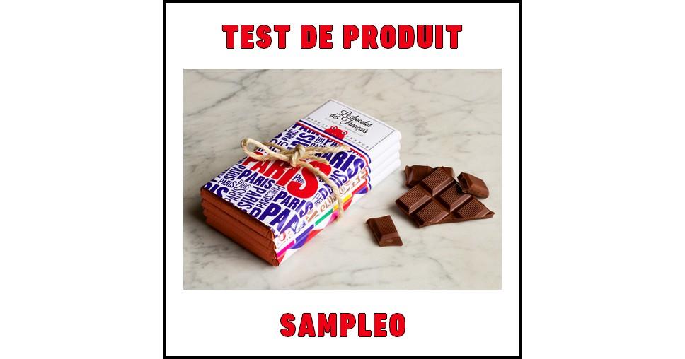 Test de Produit Sampleo : Lot de 2 tablettes de chocolat Le Chocolat des Français - anti-crise.fr