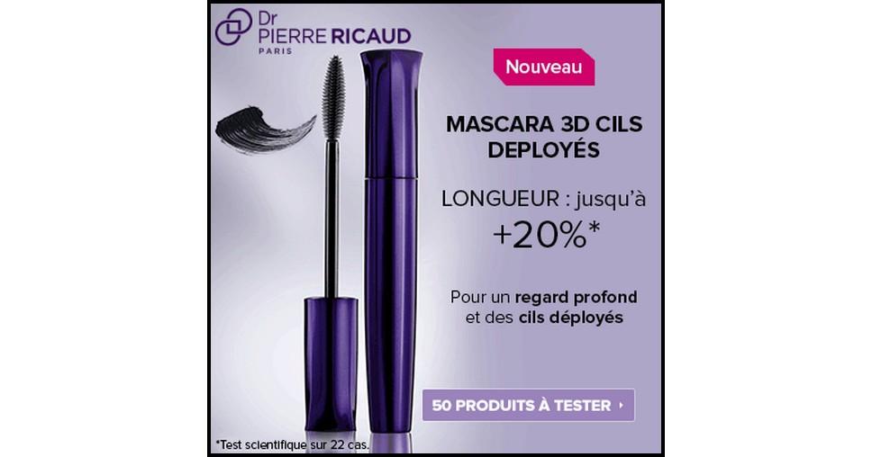 Test de Produit Beauté Test : Mascara 3D Cils Déployés - Regard Intense Dr Pierre Ricaud - anti-crise.fr