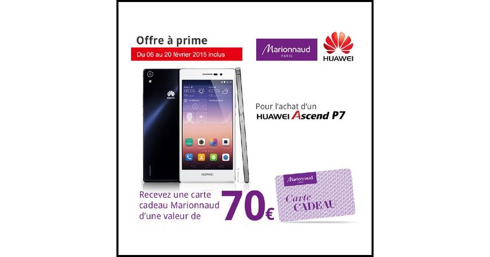 Carte Cadeau Huawei.Bon Plan Huawei Carte Cadeau 70 Marionnaud Offerte