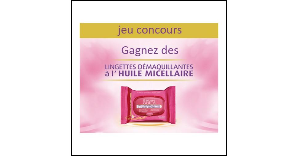 Instants Gagnants Barbara Gould sur Facebook : Lingettes Démaquillantes à l'huile micellaire à Gagner - anti-crise.fr