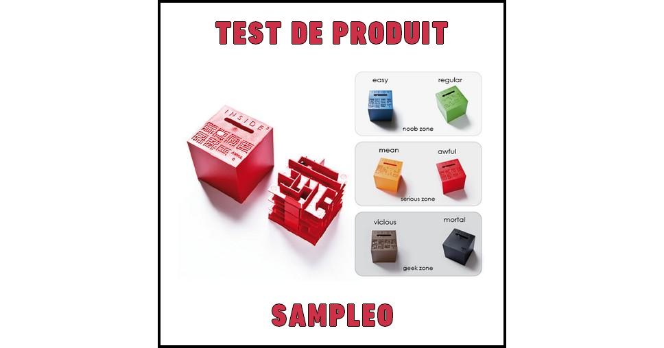 Test de Produit Sampleo : Labyrinthe 3D INSIDE³ - anti-crise.fr