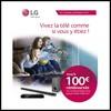 Offre de Remboursement (ODR) LG : Jusqu'à 100 € sur Audio-Vidéo - anti-crise.fr