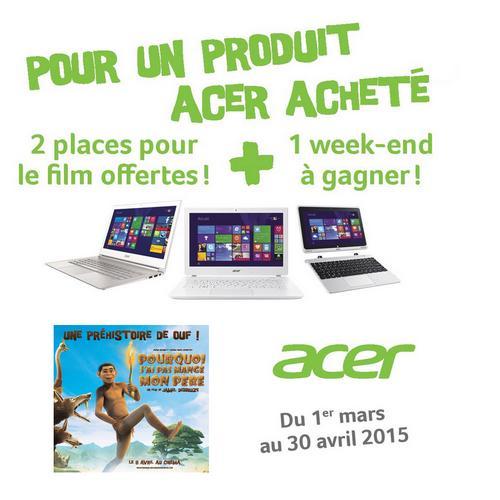 Bon Plan Acer : 2 Places de Cinéma Offertes - anti-crise.fr