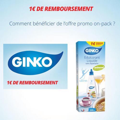 Offre de Remboursement (ODR) Ginko : 1 € sur Edulcorant Liquide 200 ml - anti-crise.fr
