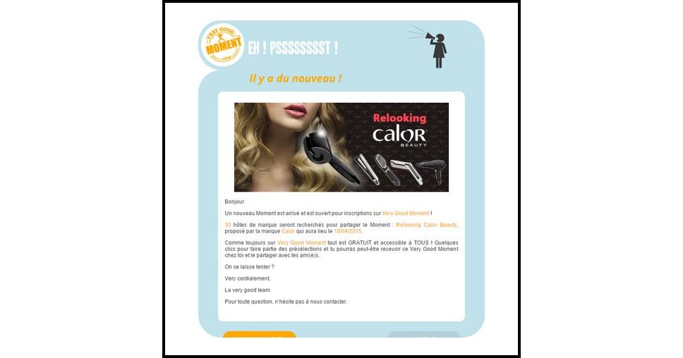 Test de Produit Very Good Moment : Soirée Relooking avec la gamme pour cheveux Calor Beauty - anti-crise.fr